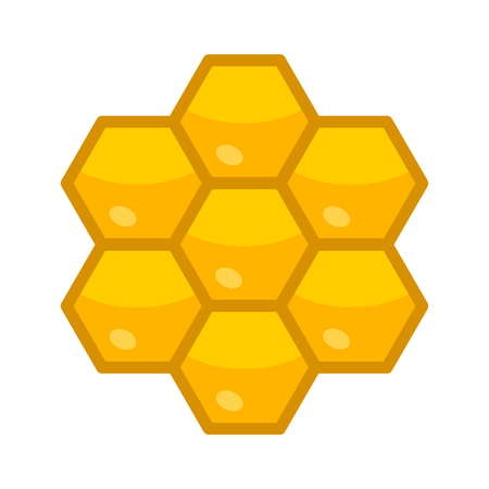 honey comb: Honeycomb  honey comb hexagonal pattern flat color icon for apps and websites