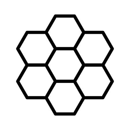 ハニカム蜂蜜櫛六角形のパターン ライン アート アプリと web サイトのアイコン
