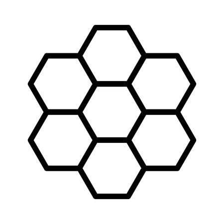 Honeycomb  honey comb hexagonal pattern line art icon for apps and websites