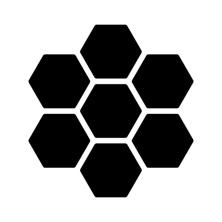 hexagonal pattern: Honeycomb  honey comb hexagonal pattern flat icon for apps and websites