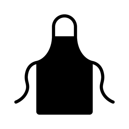 Kitchen apron protective garment flat icon for apps and websites