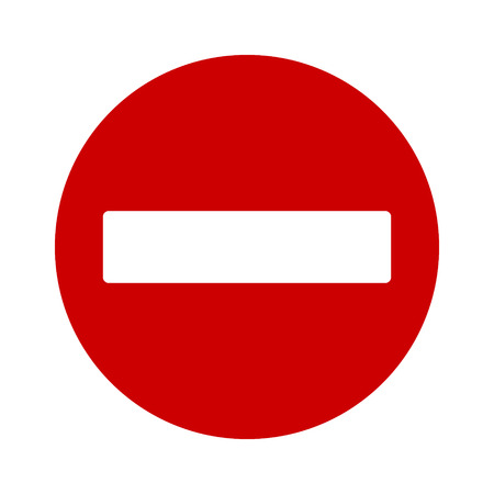do not enter: No entry or do not enter restricted area sign  icon for apps and websites Illustration