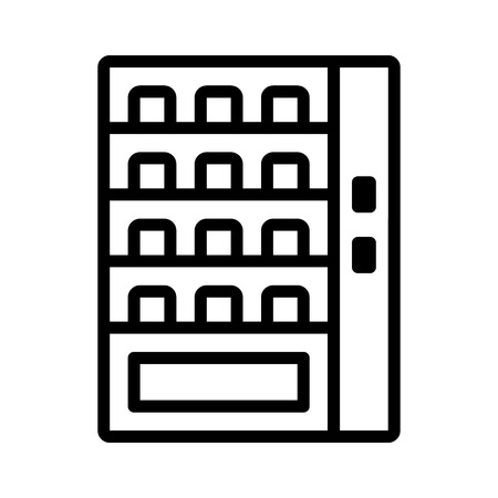 vending: Automatic vending machine line art icon for apps and websites Illustration