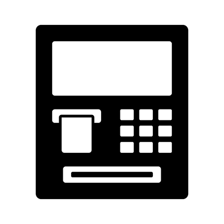 automated: ATM  automated teller machine flat icon for banking apps and websites