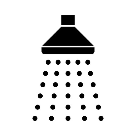 Shower sprinkler spray with water coming down flat icon for apps and websites