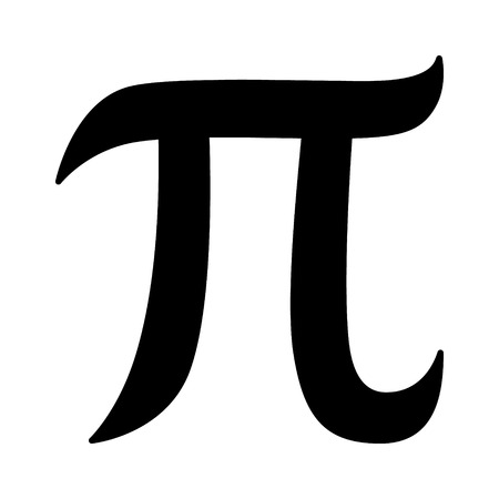 formulae: Pi 3.14 mathematical constant sign or symbol flat icon for math apps and websites