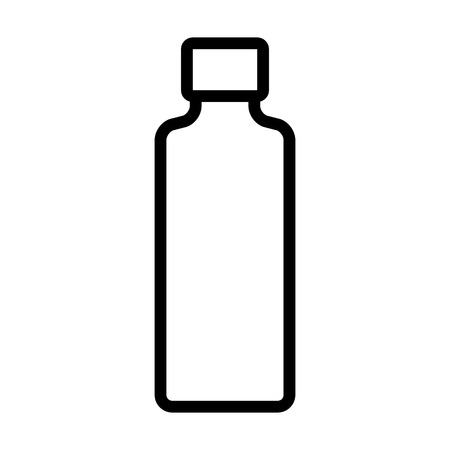 Tall long bottle container line art icon for apps and websites
