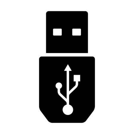 USB super speed connector kabel flat icon for apps en websites Stockfoto - 64097828