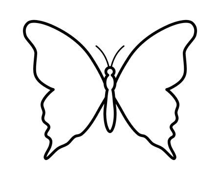 Butterfly gevleugelde insecten lijntekeningen icoon voor apps en websites