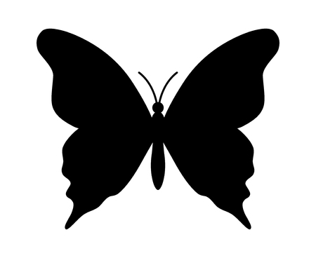 Butterfly winged insect flat icon for apps and websites Illustration