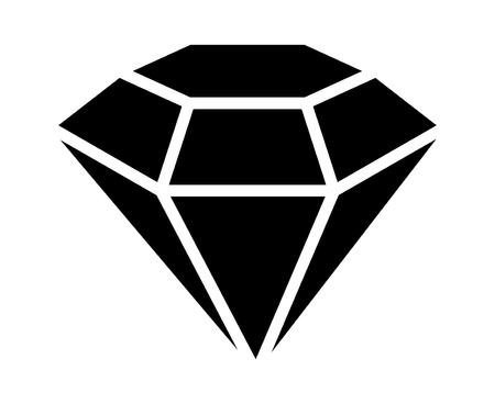 Diamond gemstone, jewel or gem flat icon for apps and websites