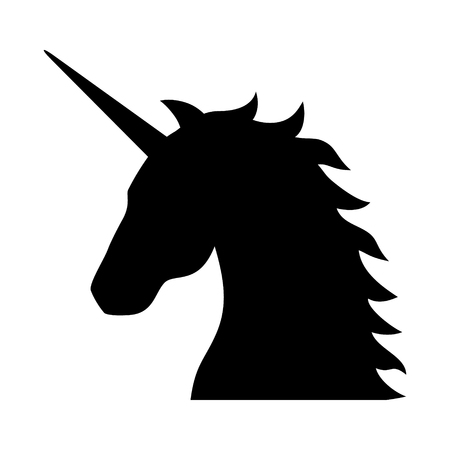 legendary: Unicorn - legendary mythical creature flat icon for apps and websites