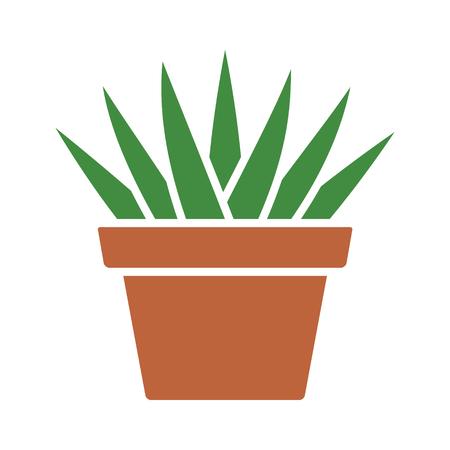 Aloe Aristata icona di colore piatto succulento pianta in vaso per le applicazioni e siti web Archivio Fotografico - 68959444