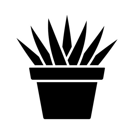 Aloe Aristata succulent potted plan flat icon for apps and websites