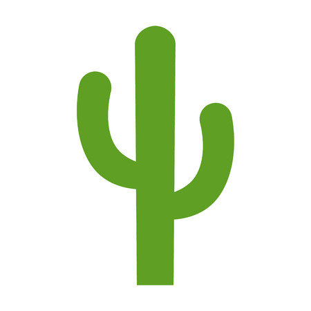 Cactus - desert plant flat color icon for apps and websites Illustration