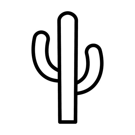 Cactus - desert plant line art icon for apps and websites 向量圖像