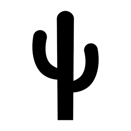 dryness: Cactus - desert plant flat icon for apps and websites Illustration