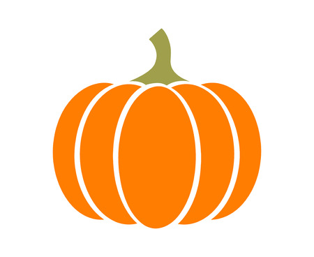 squash: Pumpkin - squash for Halloween or Thanksgiving flat color icon for apps and websites