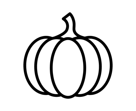 Pumpkin - squash for Halloween or Thanksgiving line art icon for apps and websites
