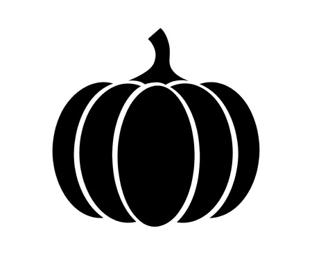 Pumpkin - squash for Halloween or Thanksgiving flat icon for apps and websites