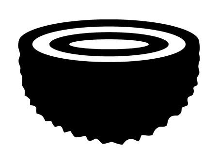 Half geode rotsformatie flat icoon voor apps en websites