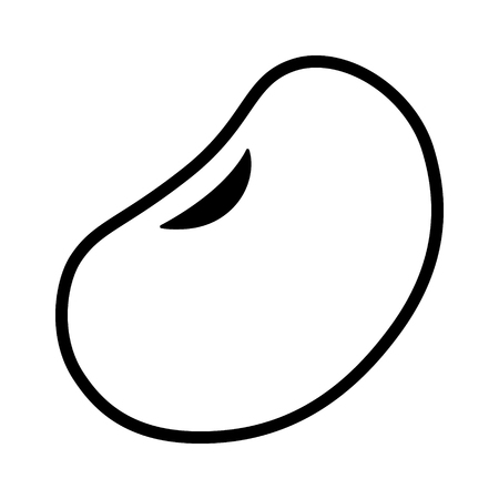 Kidney bean or common bean line art icon for food apps and websites