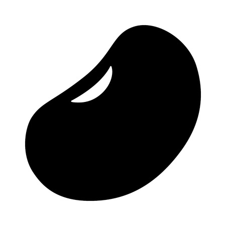 Kidney bean or common bean flat icon for food apps and websites