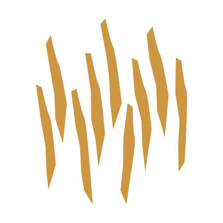 アプリとウェブサイトのための木材パルプや木材繊維フラット色のアイコン