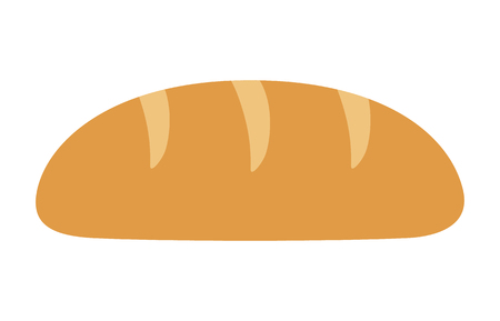 Bread loaf or bread roll flat color icon for food apps and websites