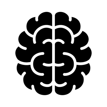 concussion: Brain, mind or intelligence flat icon for apps and websites
