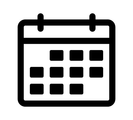 appointment: Calendar or appointment schedule line art icon for apps and websites