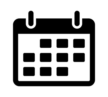 appointment: Calendar or appointment schedule flat icon for apps and websites