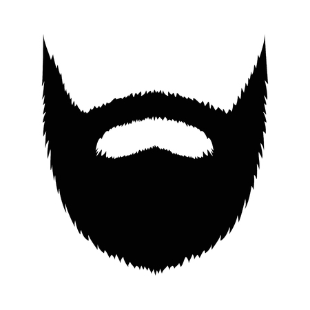 goatee: Large full beard with mustache and goatee flat icon for apps and websites