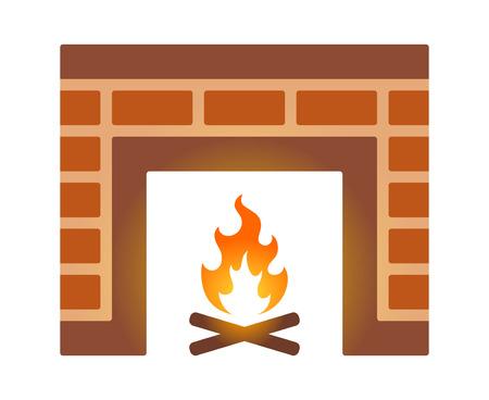 Gut #66459465   Brick Kamin Oder Kamin Flache Farbe Symbol Für Anwendungen Und  Websites