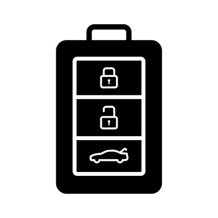 keyless: Car, automobile, vehicle keyless smart key with buttons flat icon for apps and websites