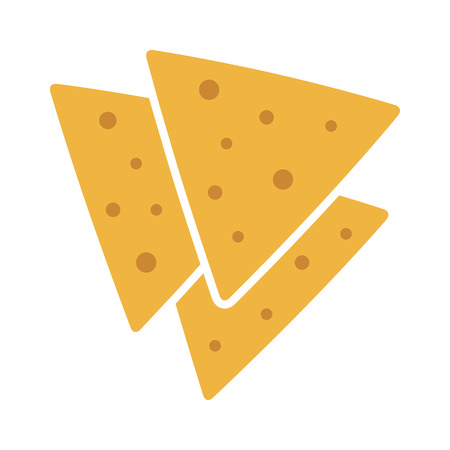 NACHO: Tortilla chips or nachos tortillas flat color icon for apps and websites