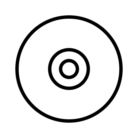 rewritable: CD, DVD   optical laser disc line art icon for apps and websites