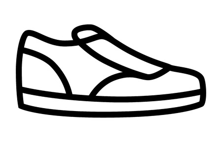 Sneaker  sneakers casual or athletic shoes line art icon for apps and websites Illustration