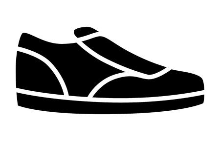 Sneaker  sneakers casual of sportschoenen flat icoon voor apps en websites Stock Illustratie
