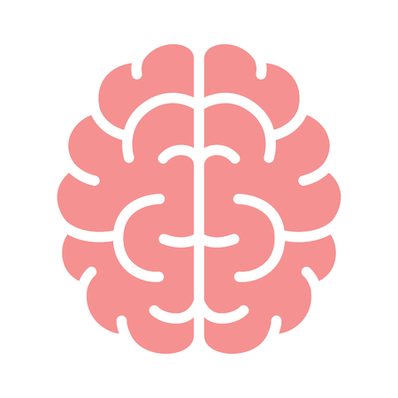 concussion: Brain, mind or intelligence flat color icon for apps and websites