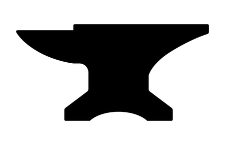 blacksmith: Blacksmith crafting anvil block flat icon for apps and games