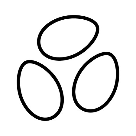 Plant seeds or flower seeds line art icon for apps and websites