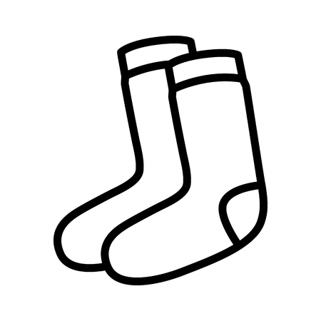 warmer: Pair of socks line art icon for fashion accessory apps and websites
