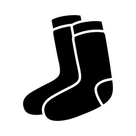 warmer: Pair of socks flat icon for fashion accessory apps and websites Illustration