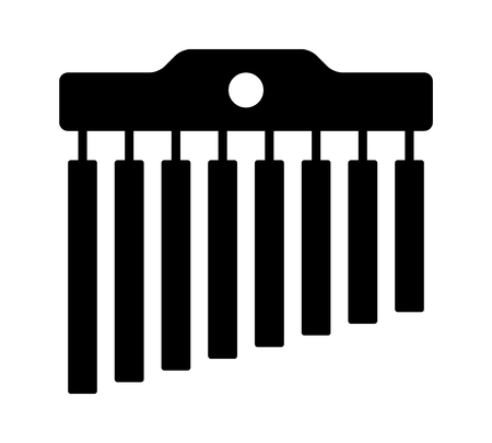 Mark tree or bar chime  chimes musical instrument flat icon for music apps and websites