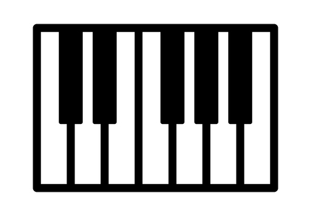 electronic music: Piano or electronic keyboard keys line art icon for music apps and websites