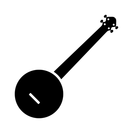 tenor: Banjo musical instrument flat icon for music apps and websites