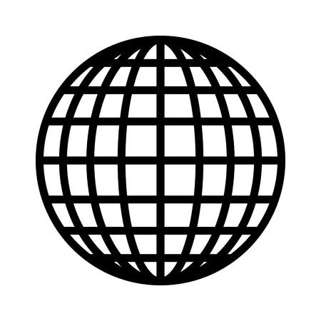 Disco, espejo o bola del brillo del arte del vector del icono de línea para aplicaciones de música y sitios web Ilustración de vector
