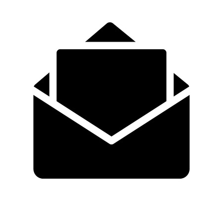 Opened envelope with letter or message vector flat icon for apps and websites