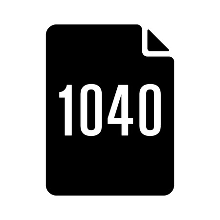 payer: 1040 IRS tax form document flat vector icon for finance apps and websites